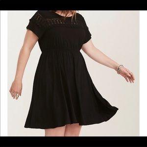 Torrid Lace Inset Skater Style Dress